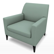 Newport Green Suede Chair (Accent Furnishings)