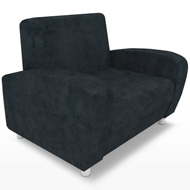 Uptown Black Suede Chair (Accent Furnishings)
