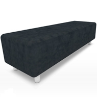 Uptown Black Suede Bench (Accent Furnishings)