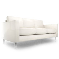 South Beach White Leather Sofa (Accent Furnishings)
