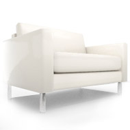South Beach White Chair (Accent Furnishings)