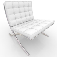 Barcelona White Chair (Accent Furnishings)