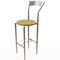 Maple & Chrome Bar Stool