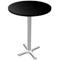 Black & Chrome Tall Bar Table (Accent Furnishings)