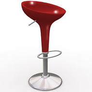Red Scoop Chair (Accent Furnishings)