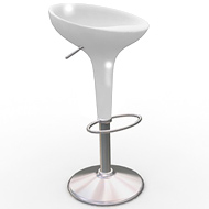 White Scoop Chair (Accent Furnishings)