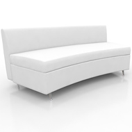 Contempo Curved Sofa White Leather (Accent Furnishings)