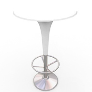 Gelato White Table (Accent Furnishings)