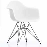 Eames Molded Plastic Armchair–Wire Base
