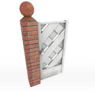 Fence wall wood door