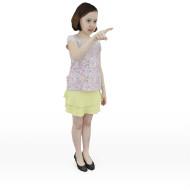 Girl Samantha pointing