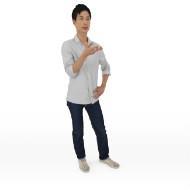 Lee standing