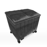 Trash dumpster on wheels