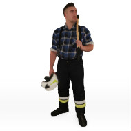 Fireman with AX