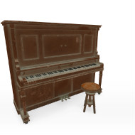 Old Upright Piano