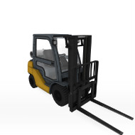 Forklift Enclosed