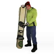 Snowboarder Waiting