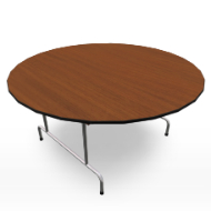 Folding Round Table 60in