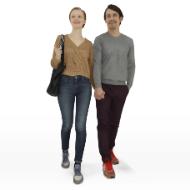 Couple MF Walking