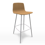 Varya wood stool
