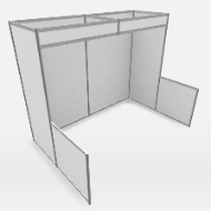 Octanorm Backwall Nook Booth 10ft