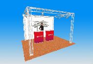 Truss system 4m x 3m x 2.5m high truss system
