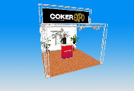 4 Metre square exhibition stand