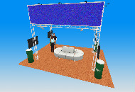 6m x 3m - 2 tier stand 4m high