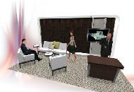 Custom Backwall & Totally Mod Furniture