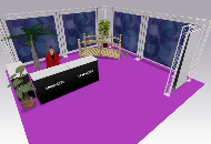 6 Metre square exhibition stand