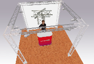 sys35trio truss system 3m sq x 2.5m high perimeter truss system
