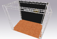 3 x 2m Exhibition Gantry Stand