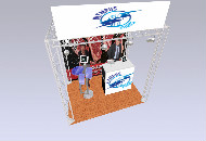 3 x 2m Exhibition Gantry System
