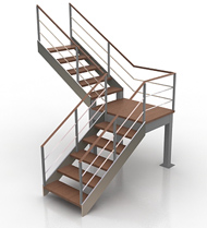 Double Deck L Stairs