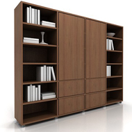 Lecco Bookshelves 4 W books