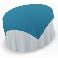Round Table With 50 Inch Cloth & Color Overlay Drape