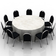 6ft Table 10 Chairs