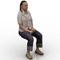Woman w jeans sitting