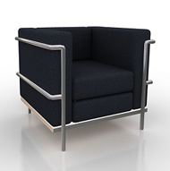 Monte Carlo White & Chrome Modern Chair (Accent Furnishings)